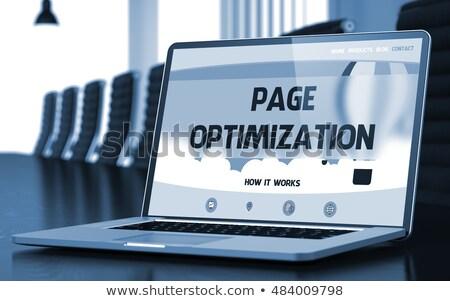 Oldal optimalizálás laptop konferenciaterem 3D modern Stock fotó © tashatuvango