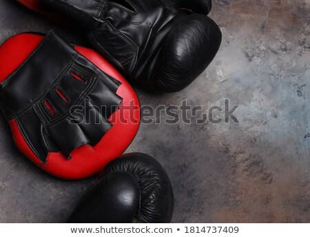 クローズアップ · ペア · ボクシンググローブ · スポーツ · 赤 · 保護 - ストックフォト © lightfieldstudios