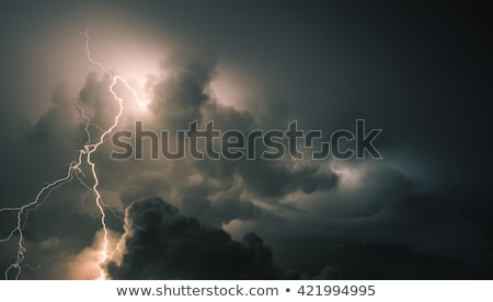 雷 嵐 雲 1泊 空 光 ストックフォト © Juhku