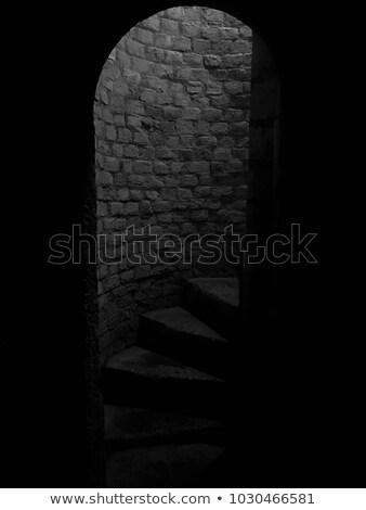 темно подземных лестница вверх вход мои Сток-фото © vapi