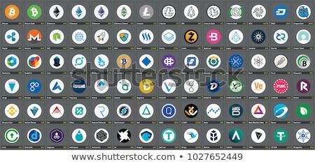 Logo ikon szürke virtuális valuta vektor Stock fotó © tashatuvango