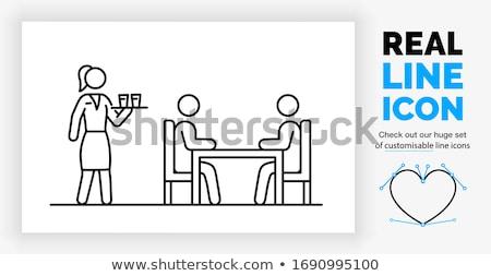Vrouw lopen eetkamer home meubels interieur Stockfoto © monkey_business