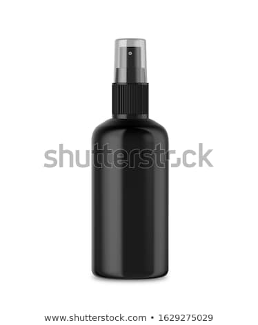 Nero spray bottiglia trasparente cap up Foto d'archivio © Makstorm