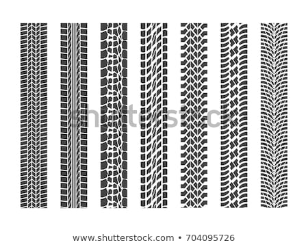 Pneus pneu seguir conjunto vetor silhueta Foto stock © Andrei_