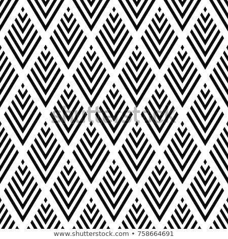 géométrique · blanc · noir · modèle · résumé · vecteur - photo stock © yopixart
