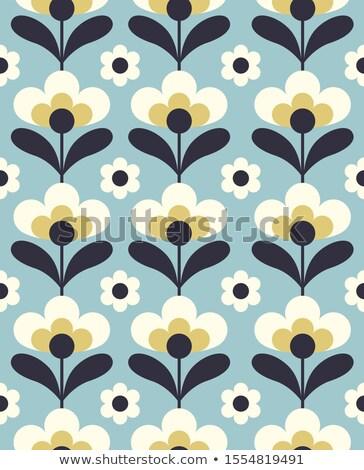 Sztuki bezszwowy wektora kwiatowy wzór czarno białe Zdjęcia stock © RedKoala