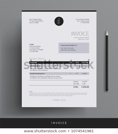 modern minimal invoice template vector design Stock photo © SArts