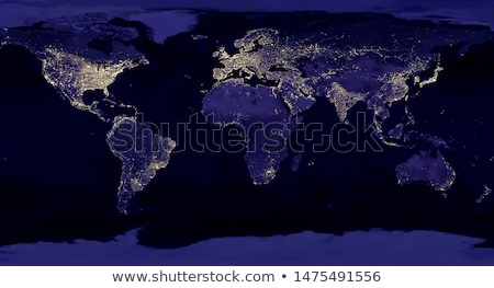 City lights on world map. Elements of this image are furnished by NASA Stock photo © NASA_images