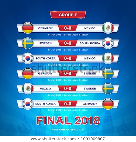 Soccer world game event 2018 Group F country team Stock photo © cienpies