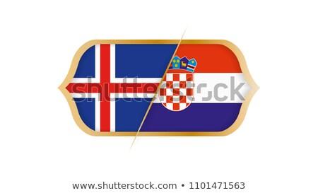 Calcio match Islanda vs Croazia calcio Foto d'archivio © Zerbor
