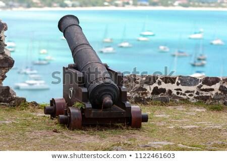 発送 · 大砲 · 孤立した · 実例 · アンティーク · 金属 - ストックフォト © searagen