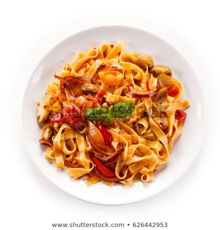 İtalyan mutfağı beyaz örnek gıda arka plan sanat Stok fotoğraf © bluering