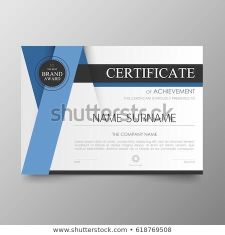 Moderne certificaat sjabloon prestatie plaats inhoud Stockfoto © orson