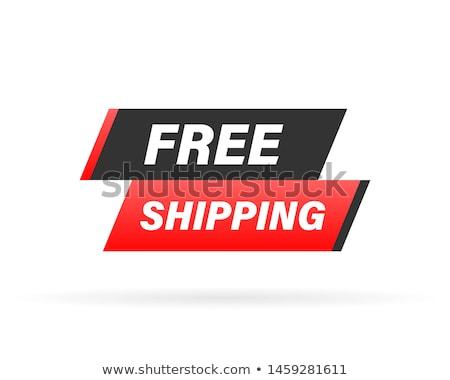 Kırmızı damga belge ücretsiz gönderim gemi alışveriş Stok fotoğraf © Zerbor