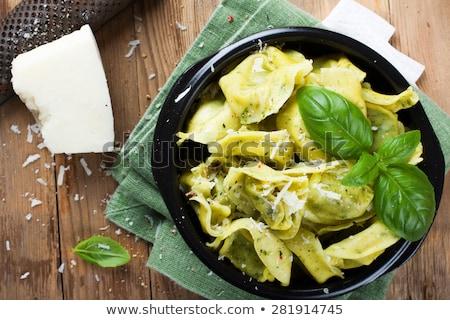Edény borsikafű olasz tortellini tészta tészta Stock fotó © Melnyk