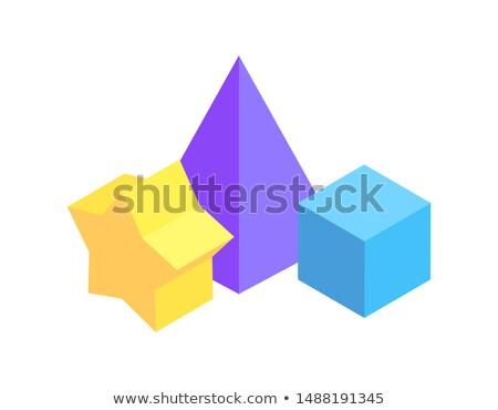 призма геометрический Рисунок белый цвета тень Сток-фото © robuart