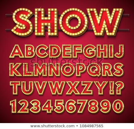 żarówka alfabet jasne czerwony ramki cień Zdjęcia stock © articular