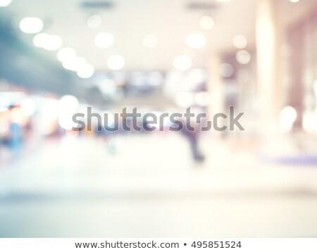 Foto stock: Negócio · centro · corredor · moderno · aeroporto · bokeh