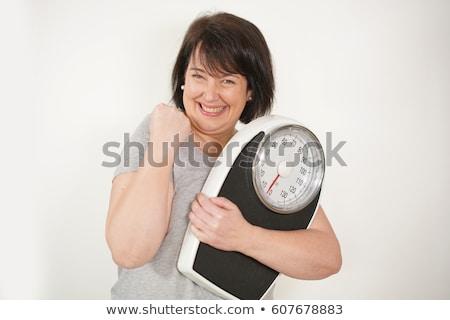 портрет · брюнетка · женщину · веса · масштаба - Сток-фото © feedough