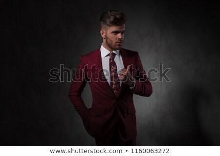 Ritratto uomo suit guardando Foto d'archivio © feedough