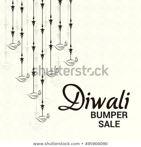 Diwali seizoen verkoop opknoping achtergrond lichten Stockfoto © SArts