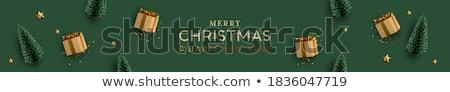 Christmas sprzedaży plakat gradient zielone Zdjęcia stock © cammep