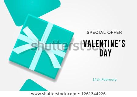 Feliz dia dos namorados venda símbolo amor doce Foto stock © ikopylov