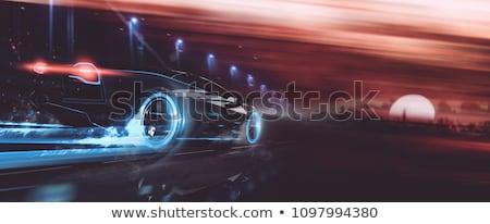 Photo stock: Rouge · voiture · électrique · illustration · nature · design · fond