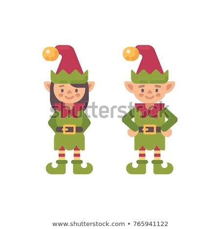 два Cute Рождества иллюстрация праздник характер Сток-фото © IvanDubovik