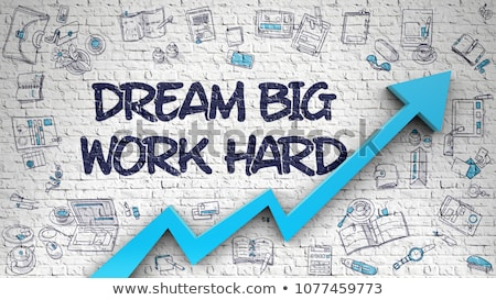 Dream Big Drawn on White Wall. 3D Rendering. Stock photo © tashatuvango