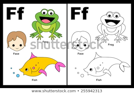 f is for educational game coloring book stock photo © izakowski