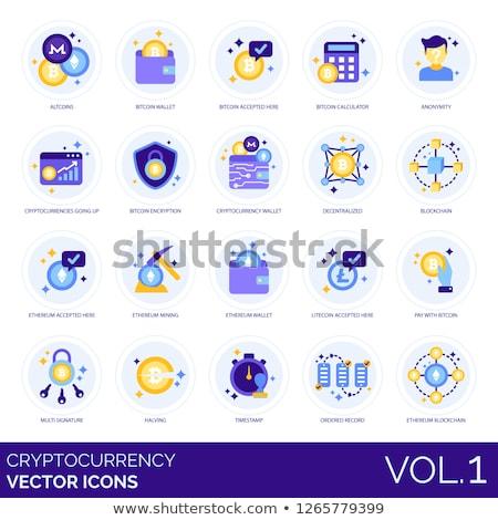 Blockchain Crypto Currency Set Vector Illustration Stock photo © robuart