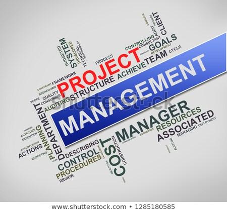 projet · gestion · mot · rouge · couleur - photo stock © nasirkhan