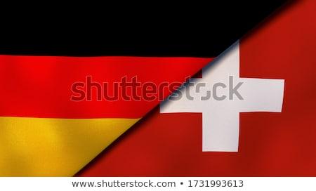 Dos banderas Alemania Suiza aislado Foto stock © MikhailMishchenko