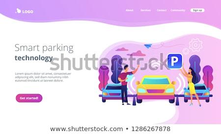 Self-parking car system concept landing page. Stock photo © RAStudio