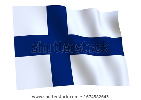 Finnish flag isolated on white Stock photo © daboost