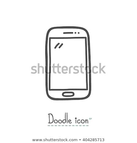 мобильного телефона рисованной болван икона связи Сток-фото © RAStudio