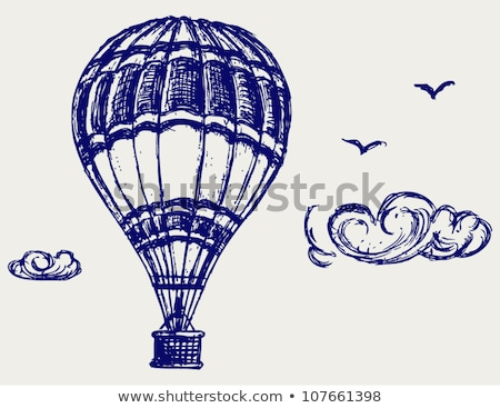 Hot air balloon hand drawn outline doodle icon. Stock photo © RAStudio