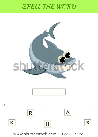 Spelling word scrable game with word shark Stock photo © colematt