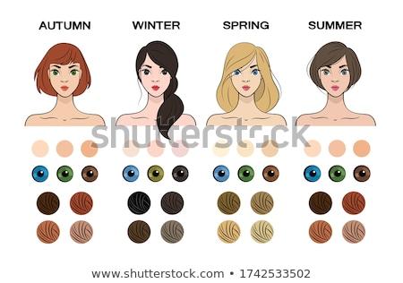 szezonális · szín · nők · bőr · szépség · szett - stock fotó © bonnie_cocos