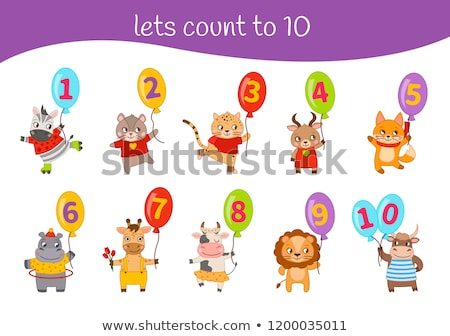 Mathematics Card Count 1 to 10 Stock photo © colematt