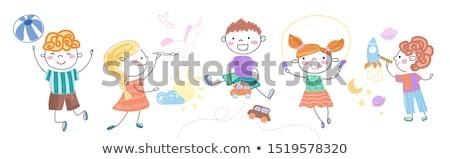 Anne çocuk farklı faaliyetler örnek kadın Stok fotoğraf © colematt