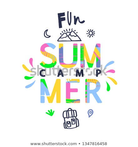 Summer Camp Handwritten Colorful Concept Stock photo © ivelin