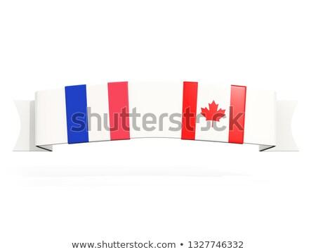 Banner dos cuadrados banderas Canadá Francia Foto stock © MikhailMishchenko