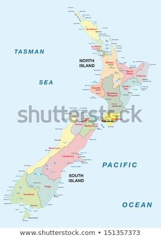 Ház zászló Új-Zéland csetepaté fehér házak Stock fotó © MikhailMishchenko