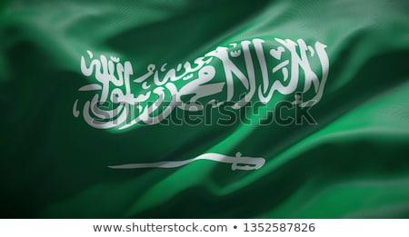 Ev bayrak Suudi Arabistan beyaz evler Stok fotoğraf © MikhailMishchenko