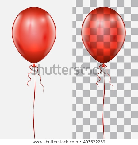 Red Balloon Isolated White background Stock photo © barbaliss