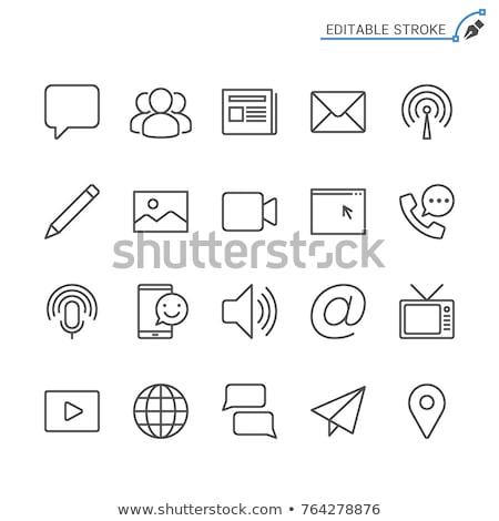 blog line web glyph icons stock photo © anna_leni