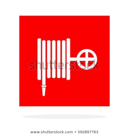 vetor · fogo · prevenção · equipamento · isolado · branco - foto stock © angelp
