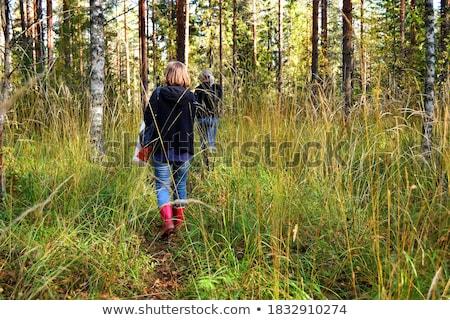 mijn · gelukkig · gezin · kinderen · bos · gelukkig · natuur - stockfoto © lopolo